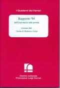 1995/1 - Rapporto '94 dell'osservatorio sulle povertà