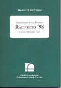 1999/10 - Osservatorio sulle Povertà. Rapporto '98. Caritas di Modena e Carpi