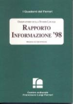 1999/11 - Osservatorio sulla Stampa Locale. Rapporto Informazione'98. Modena sui quotidiani