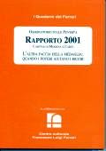 2001/16 - Osservatorio sulle Povertà. Rapporto 2001. Caritas di Modena e Carpi